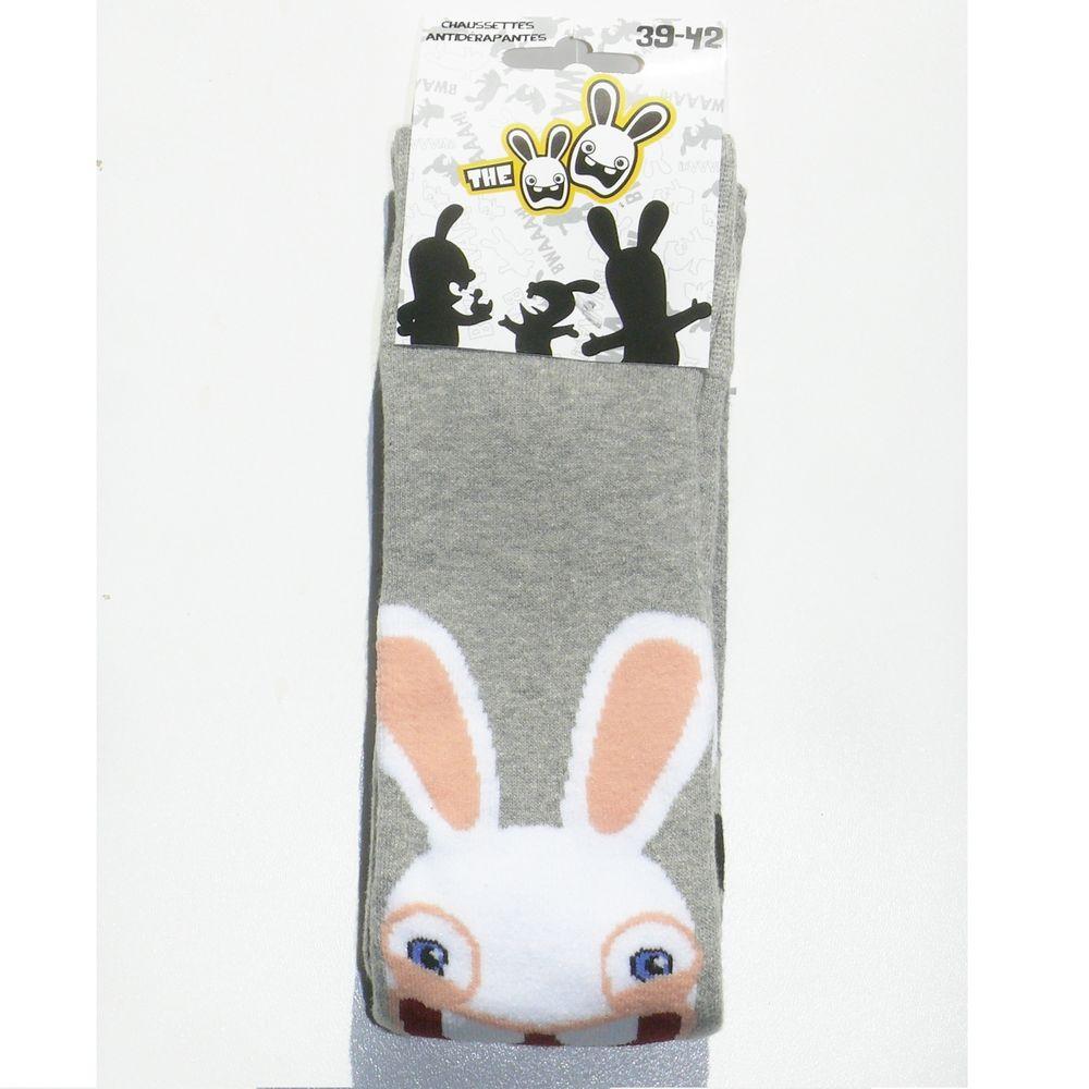 chaussettes d 39 int rieur antid rapantes the lapins cr tins. Black Bedroom Furniture Sets. Home Design Ideas