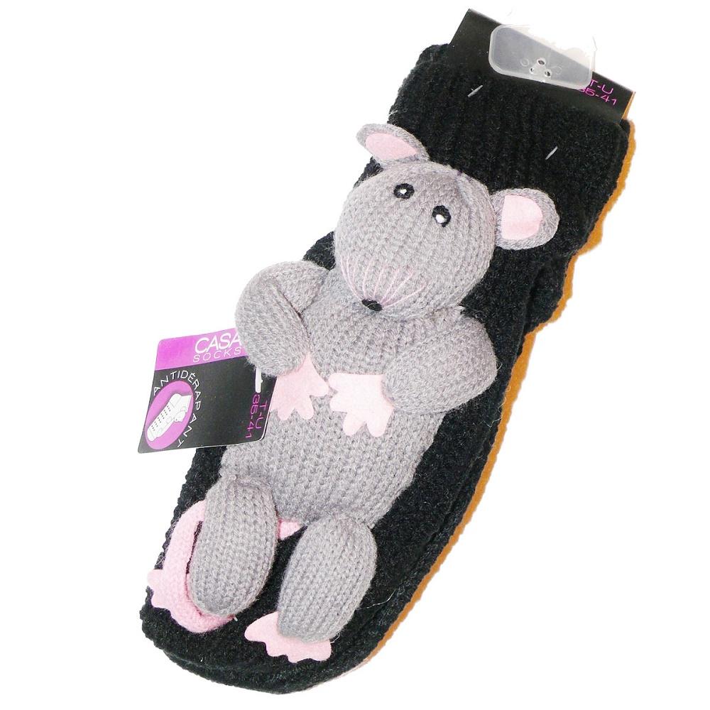 chaussettes de maison antid rapantes souris. Black Bedroom Furniture Sets. Home Design Ideas