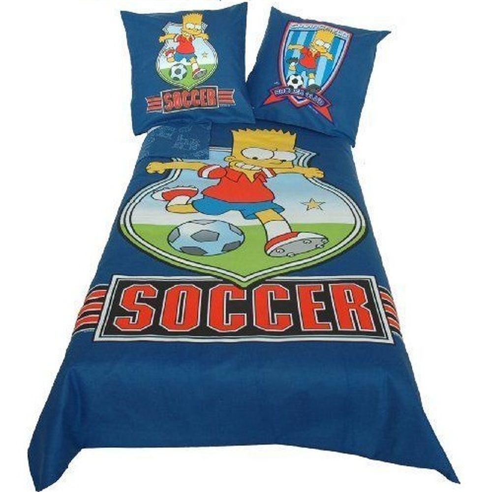 parure de lit bart soccer the simpsons. Black Bedroom Furniture Sets. Home Design Ideas