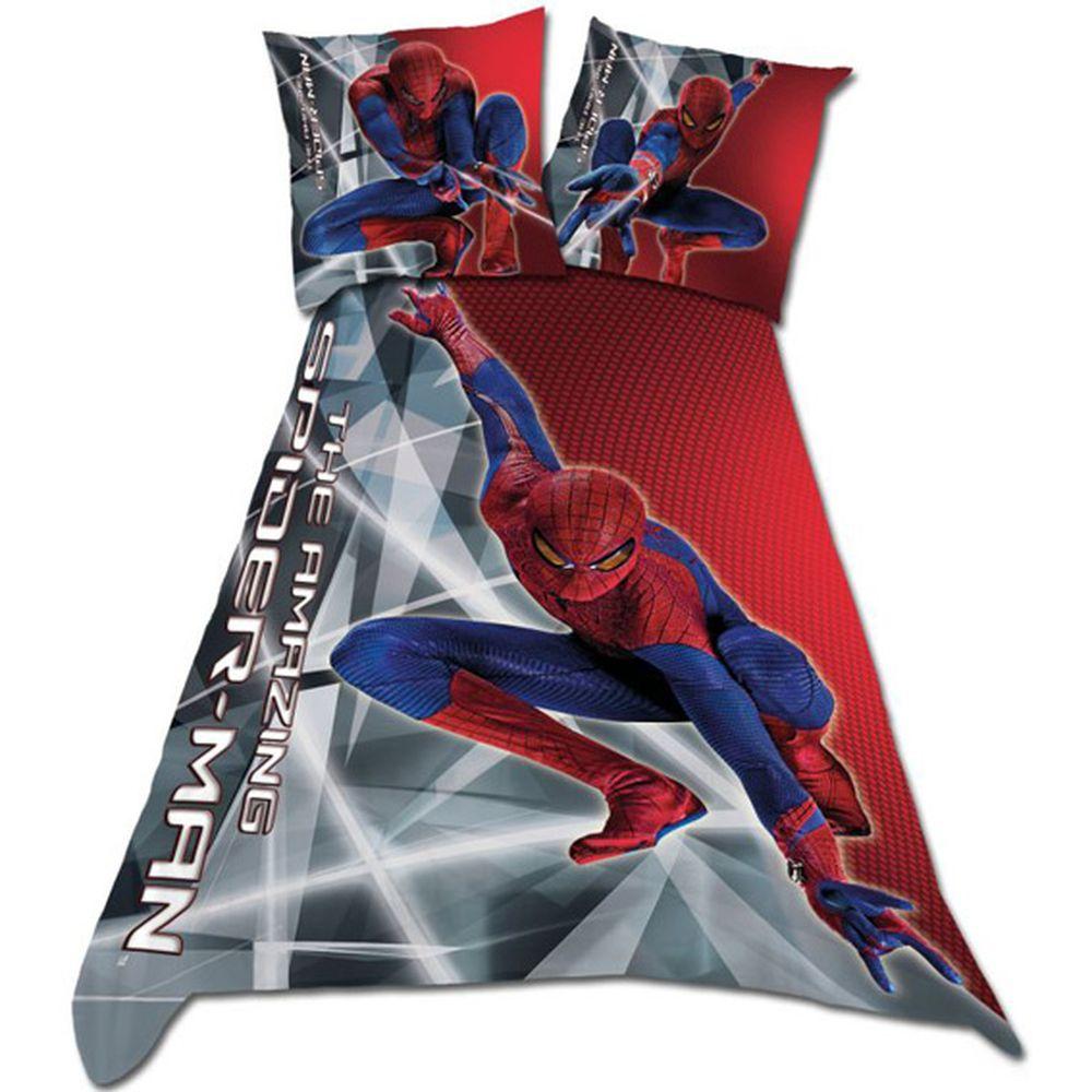 Parure de lit spiderman housse de couette spiderman - Taie d oreiller spiderman ...