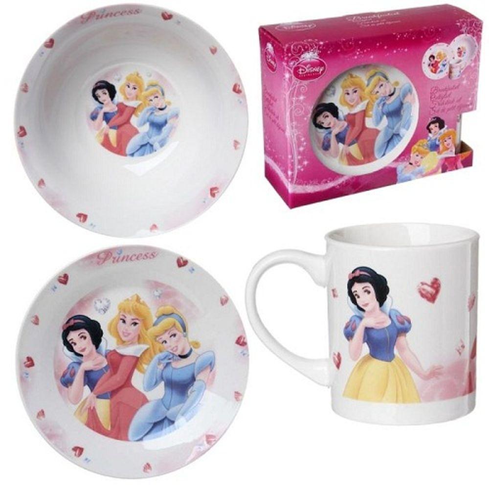 Coffret set petit d jeuner princesses for Set petit dejeuner porcelaine