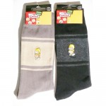 Chaussettes Homer Simpson brodées The Simpsons