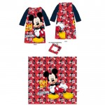 Robe de chambre plaid couverture Mickey