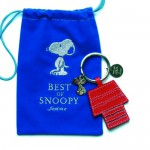 Porte-clés Snoopy, Home Sweet Home cuir rouge